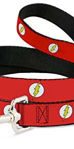 Buckle-Down Cat Collar Breakaway The Flash Bolt Stripe Reds Yellows 8 to 12 Inches 0.5 Inch Wide