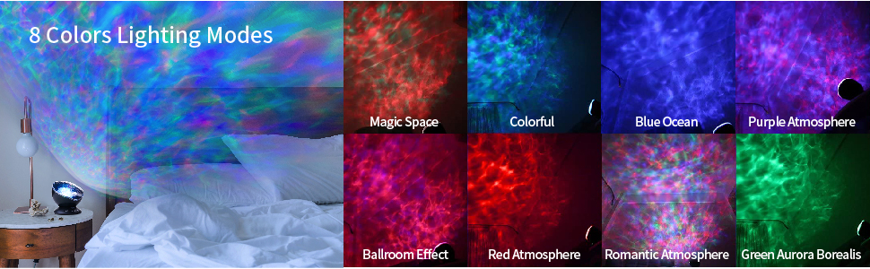 Ocean Wave Projector 7 Colorful Ceiling Mood