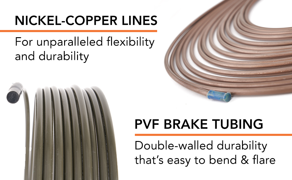 carlson brake lines nickel copper pvf durable flexible