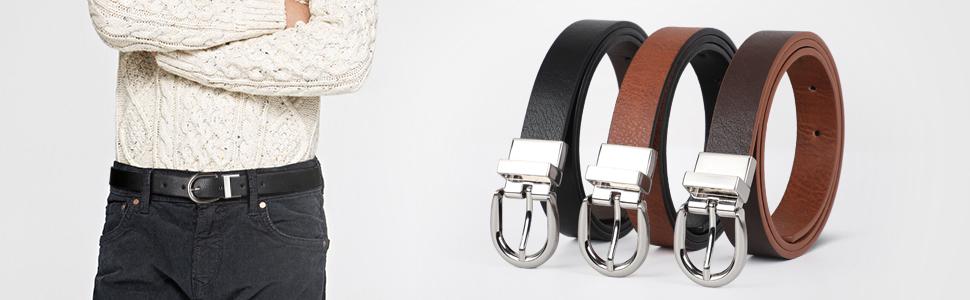 kids boy leather belt reversible jeans belt