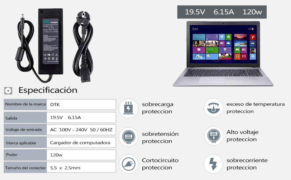 DTK Cargador Adaptador de Corriente para MSI/Lenovo/MEDION 19.5V ...