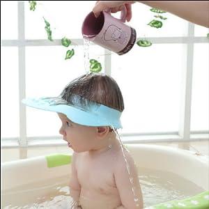 Kinder Duschkappe weiche Silikonhaut Shampoo Schutz f/ür Kinder Augenschutz und Ohrenschutz 100/% wasserdicht Haarwaschhilfe mit Clip-Verschluss Haare waschen ohne Tr/änen f/ür 0-9 Jahre