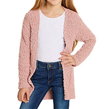 lovely baby pink sherpa coat for girls