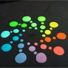 Glowing circles of glow paint