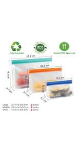 1 quart size vacuum seal bags reusable food vac storage sandwich freezer bags