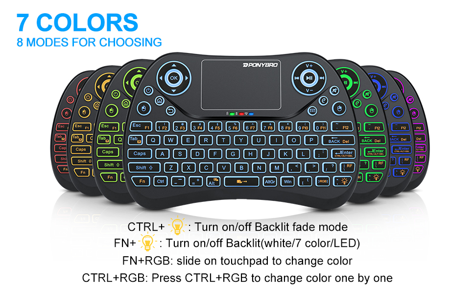 Remote Control for YouTube Black Wireless Mini Keyboard /& Mouse Easy Control Browser for Sharp LC-40FI5342KF 40 Inch