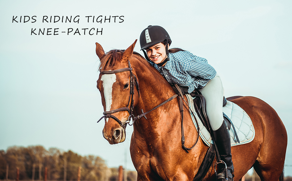 Kid's Riding Tights Knee-Patch Riding Pants