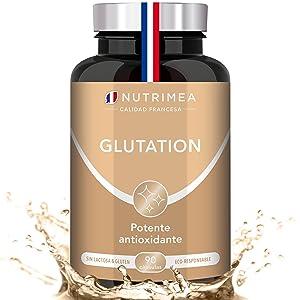 Glutatión Potente Antioxidante con Vitamina C, Reducido al 98% + Glicina Cisteína Ácido Glutámico, Regenerador Celular Hombres y Mujeres, Skin ...