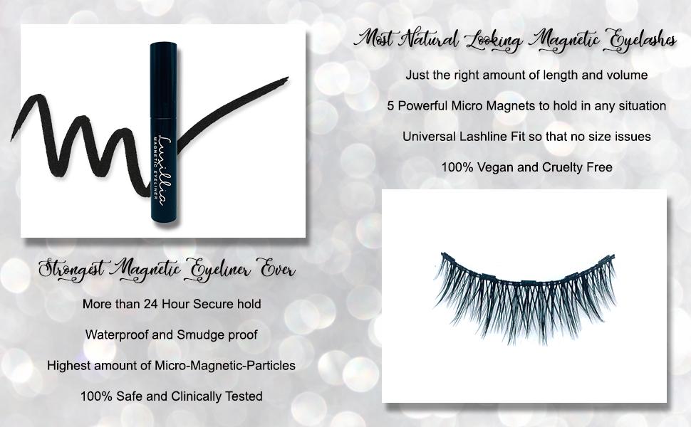 Magnetic Eyelashes and liner Magnet Eyelashes Magnetic eyelashes natural look magnetic eye lashes