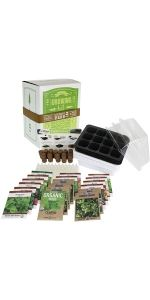 premium indoor culinary herb garden seed starter kit by mountain valley seed company