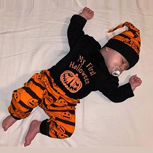 newborn baby boy halloween pants set
