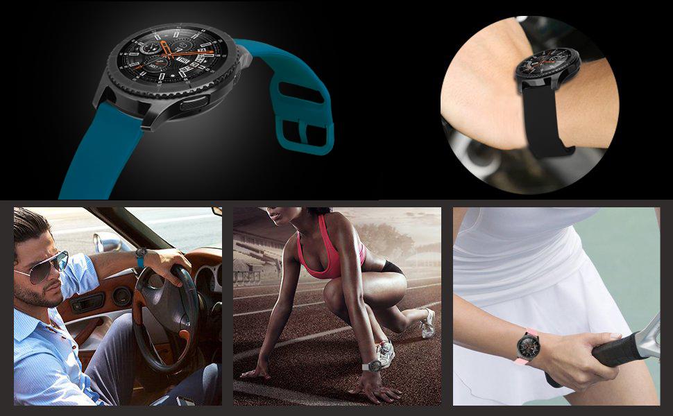 Bracelet de montre de rechange pour Galaxy Watch 3, 45 mm.