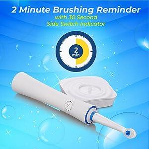 2 minutes brushing reminder