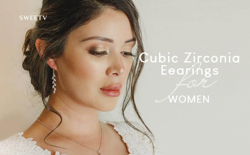 Wedding earrings for women brides