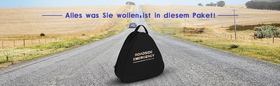 Car roadside emergency brakedown triangle EU travel