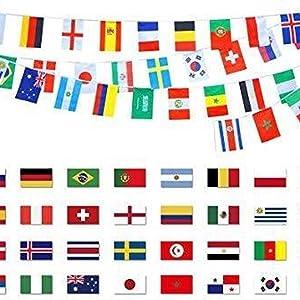 vlaggenlijn wereld alle landen