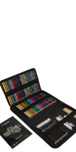 Zenacolor Kit Dibujo Completo 74 piezas - Principiantes o profesionales