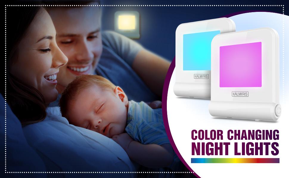 dusk dawn night light plug in color changing nursery change plug kids bedroom toddler girl boy warm