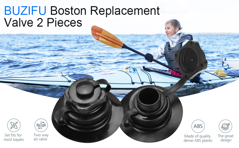Black Lsydgn Replacement screw air valve Kayak valve cover Inflatable boat valve plug Tough and durable for long term use quick inflation and suitable for most inflatable kayaks tools 2 pieces