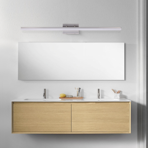 mirrea 48in Modern LED Vanity Light for Bathroom Lighting Dimmable 46w Brushed Nickel