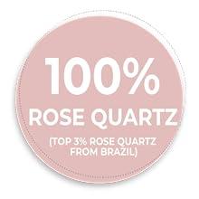 100% rose quartz facial roller