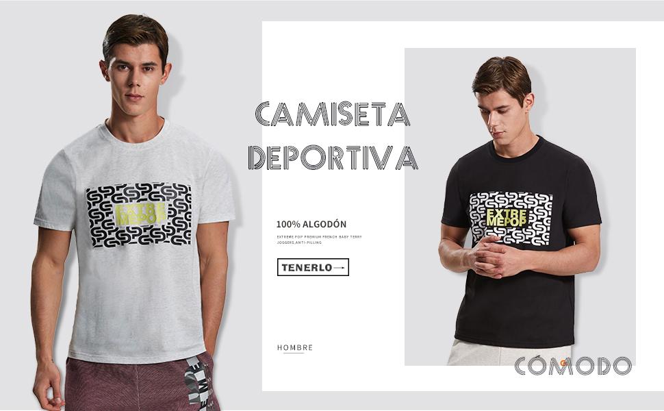 Extreme Pop Camiseta para Hombre Deportiva de Verano Impresa Camiseta de algodón orgánico Marca UK: Amazon.es: Ropa y accesorios