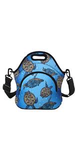 Blue Turtle Lunch Bag