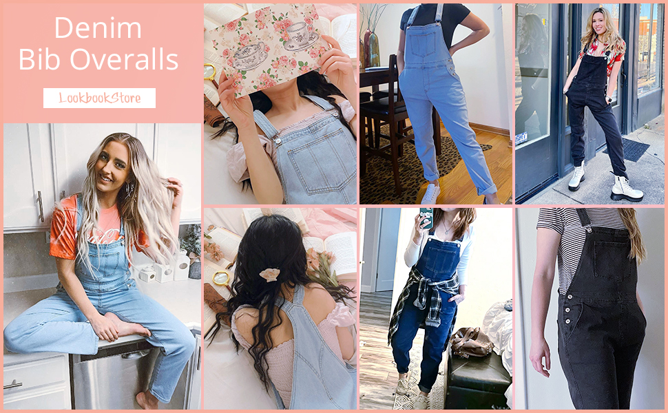 jean one piece jumpsuit overalls pants for women loose fit