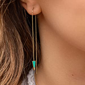 jewelry for women chain threader earrings