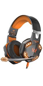 orange gaming headset