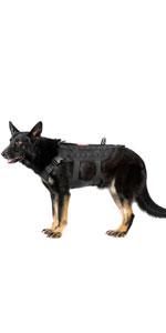 tactical k9 military dog harness vest