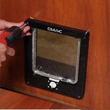 CEESC Puertas para gatos, puerta magnética para mascotas con ...