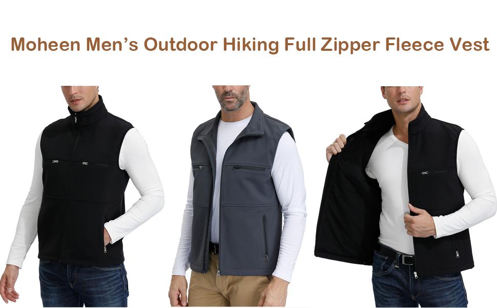 Men's Fleece Vest Waistcoat