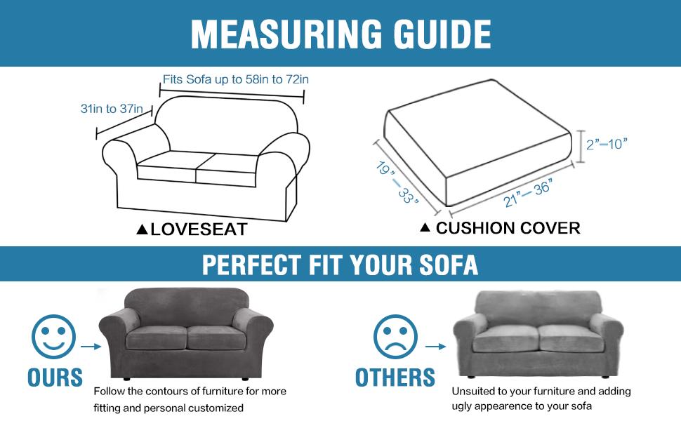 2er-or 3er cover Scope cover sofa sofahusse 1er 13 colors