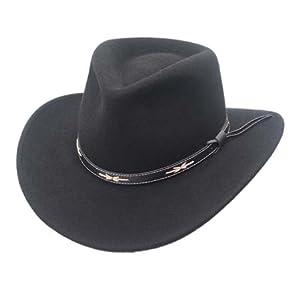 Outback Wool Cowboy Cowgirl Hat Pinch