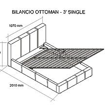 Ottoman Storage Single Bed Diagram