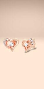UPSERA Open Heart Stud Earrings