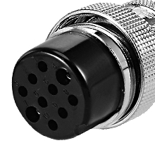 uxcell Aviation Connector Plug,28mm 24 Pin 7A 150V P28-24 Waterproof Male Wire Panel Power Chassis Metal Fittings Connector Aviation Silver Tone