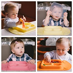 EasyMat mini Easytots weaning suction plate portable with lid /& bag,all colours
