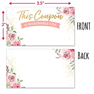 blank coupons customizable 100 bulk vouchers diy certificate personalized rewards discount stamp