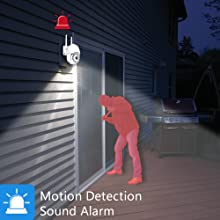 motion detection, home security camera system, smart home secuirty camera, alarm system