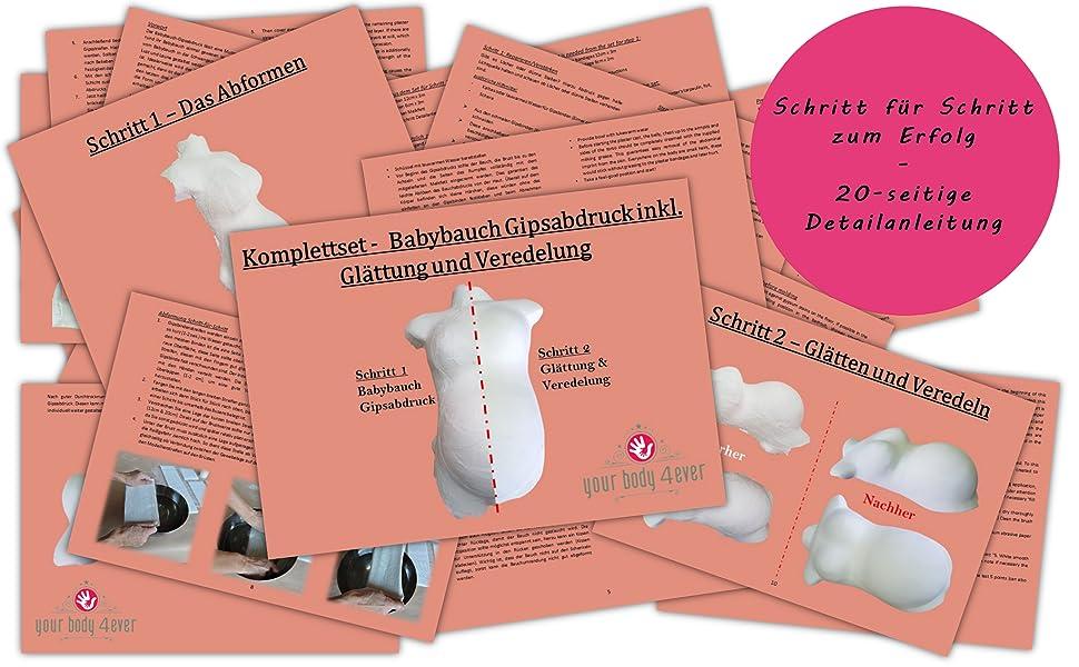 Gipsabformung Abformung Babybauch Set Gipsabdruck Schwangerschaft Bauchabdruck