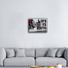 woonkamer muur kunst foto