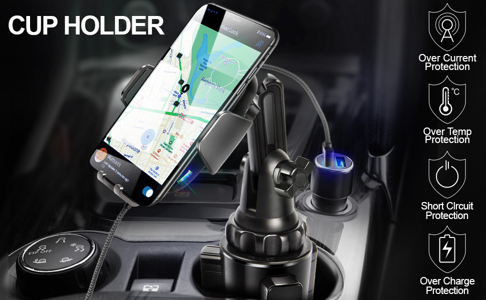 wireless cup holder