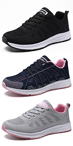 casual walking shoes comfort breath mesh tennis sport athletic running sneakers lightweight lace up