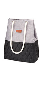 Weekend Shoulder Bag Bvani Large Canvas and Leather Tote Bag for Women