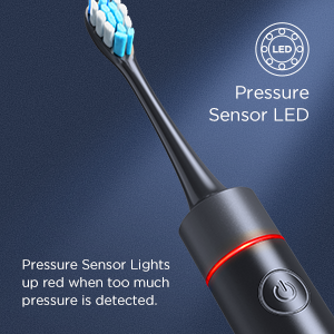 electric toothbrush with pressure sensor