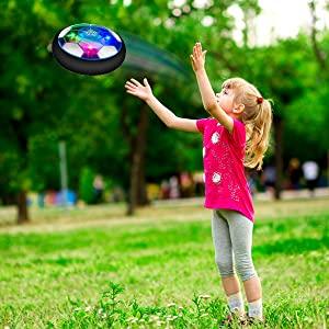 Baztoy Balón Fútbol Flotant, Recargable Pelota Futbol con Protectores de Espuma Suave y Luces LED, Balones Futbol Juguete Niños 3 4 5 6 7 8 9 10 11 12 Años, Air Power Soccer para Regalos Cumpleaños: Amazon.es: Juguetes y juegos