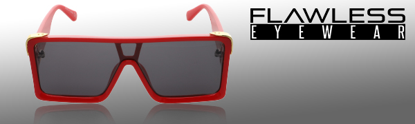 Flat Top Oversized Big Thick Square Frame Sunglasses