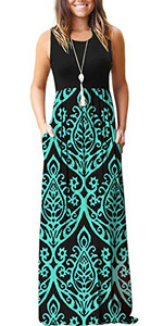 sleeveless maxi dresses for women